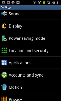 Samsung Galaxy Setup